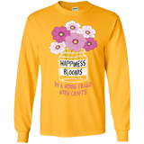 Happiness Blooms with Crafts Long Sleeve Ultra Cotton T-Shirt - Crafter4Life - 4