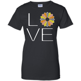 LOVE Quilting (Fall Colors) Ladies Custom 100% Cotton T-Shirt - Crafter4Life - 2