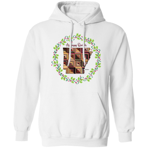 Arkansas Quilter Christmas Pullover Hoodie