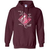 Make a Quilt (pink) Pullover Hoodies - Crafter4Life - 7