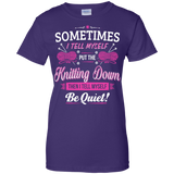 Put the Knitting Down Ladies Custom 100% Cotton T-Shirt - Crafter4Life - 7