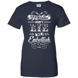 Scrapbookers Don't Lie Ladies Custom 100% Cotton T-Shirt - Crafter4Life - 9