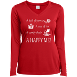 A Happy Me Ladies Long Sleeve V-neck Tee - Crafter4Life - 5