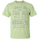 8th Day Crochet Custom Ultra Cotton T-Shirt - Crafter4Life - 8