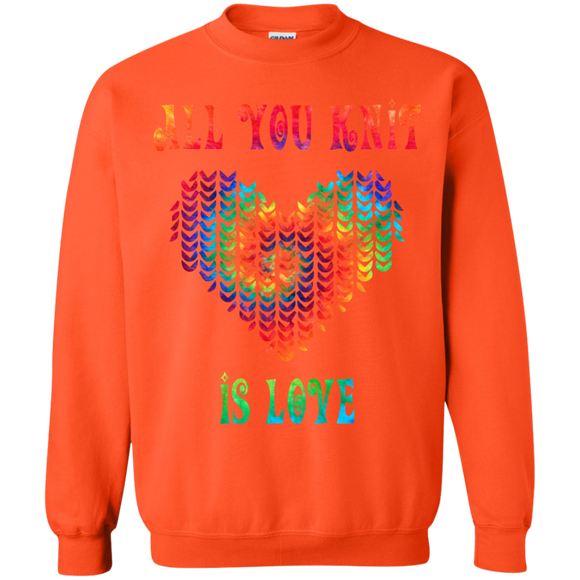 All You Knit Heart Crewneck Pullover Sweatshirt