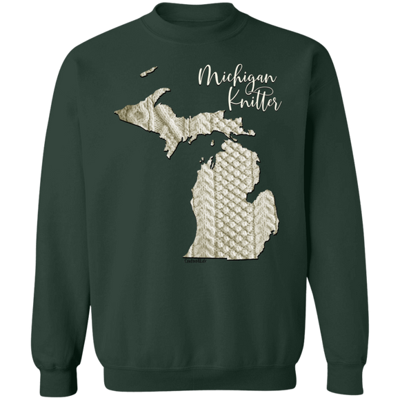 Michigan Knittter Crewneck Pullover Sweatshirt