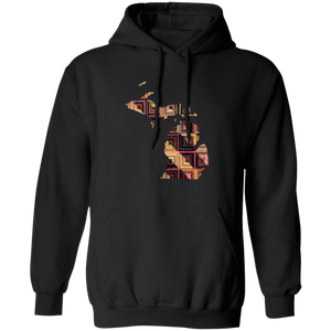 Michigan Quilter Hoodie in black