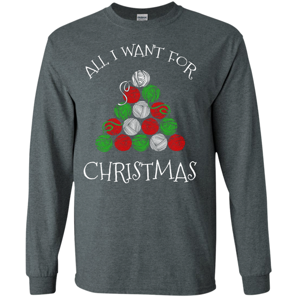 All I Want for Christmas is Yarn LS Ultra Cotton T-shirt