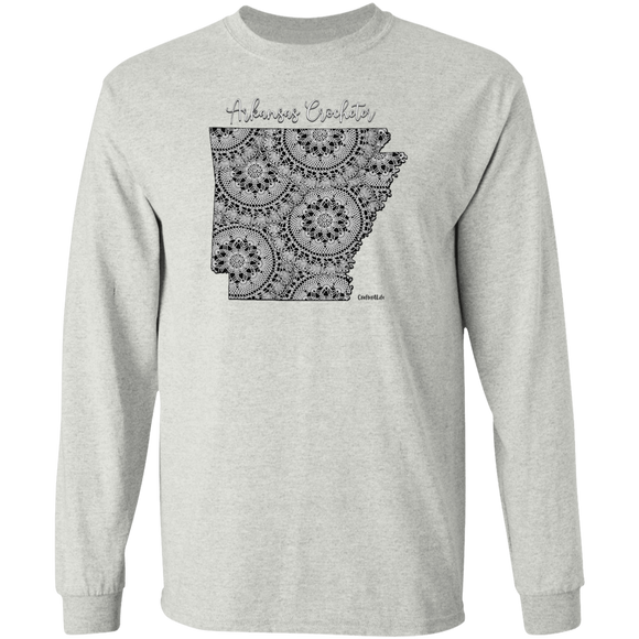 Arkansas Crocheter LS Ultra Cotton T-Shirt