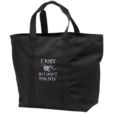 I Knit So I Don't Unravel All Purpose Tote Bag