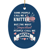 Knitter Mom Ornaments