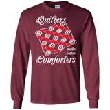 Quilters Make Better Comforters Long Sleeve Ultra Cotton T-Shirt - Crafter4Life - 6