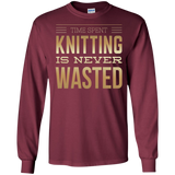Time Spent Knitting Long Sleeve Ultra Cotton T-Shirt - Crafter4Life - 5