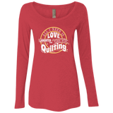 Time for Quilting Ladies Triblend LS Scoop