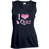 I Heart to Quilt Ladies Sleeveless V-neck - Crafter4Life - 5