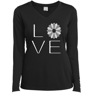 LOVE Quilting Ladies Long Sleeve V-neck Tee - Crafter4Life - 1