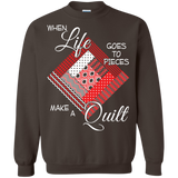 Make a Quilt (red) Crewneck Sweatshirts - Crafter4Life - 5