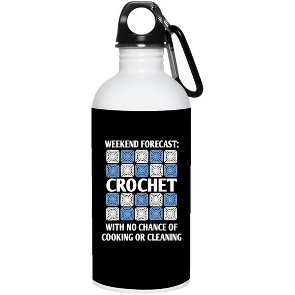 Weekend Forecast Crochet 20 oz. Stainless Steel Water Bottle