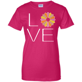 LOVE Quilting (Fall Colors) Ladies Custom 100% Cotton T-Shirt - Crafter4Life - 7