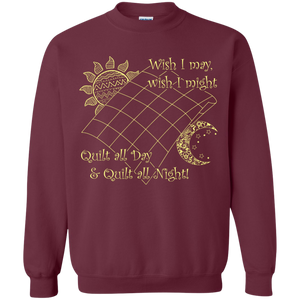 Wish I May Quilt Crewneck Sweatshirts - Crafter4Life - 1