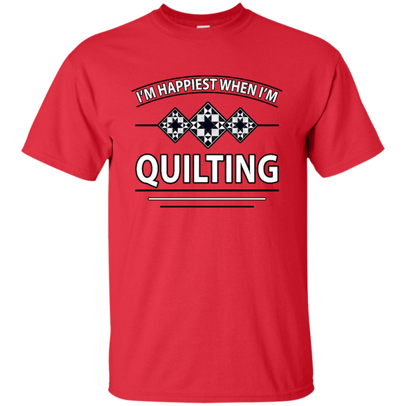 I'm Happiest When I'm Quilting Ultra Cotton T-Shirt