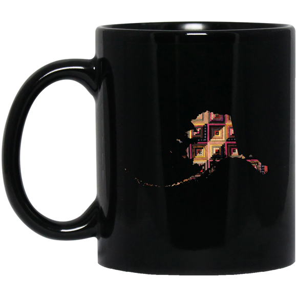 Alaska Quilter Black Coffee Mugs