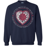 Piece of My Heart (Crochet) Crewneck Pullover Sweatshirt