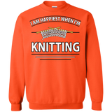 I Am Happiest When I'm Knitting Crewneck Sweatshirts - Crafter4Life - 3