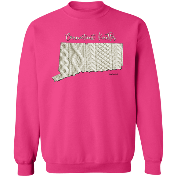 Connecticut Knitter Crewneck Pullover Sweatshirt