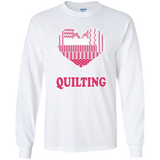 Heart Quilting Long Sleeve Ultra Cotton T-Shirt - Crafter4Life - 4