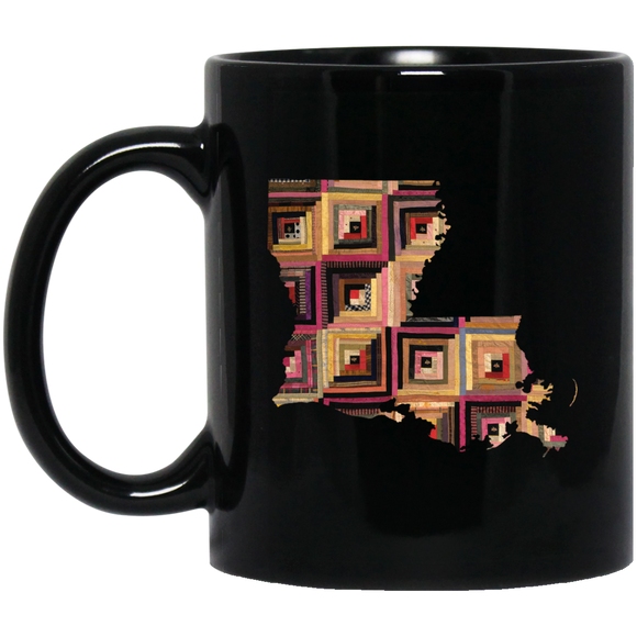 Louisiana Quilter Black Mugs