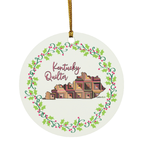 Kentucky Quilter Christmas Circle Ornament