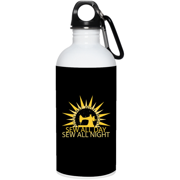 Wish I May Sew 20 oz. Stainless Steel Water Bottle