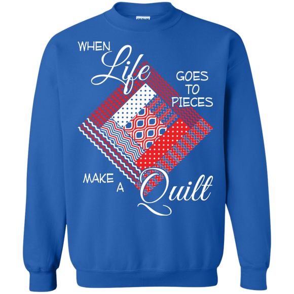 Make a Quilt (red) Crewneck Sweatshirts - Crafter4Life - 1