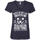 Most of My Life (Quilting) Ladies V-Neck Tee - Crafter4Life - 5