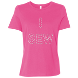 I Sew Ladies Relaxed Jersey Short-Sleeve T-Shirt