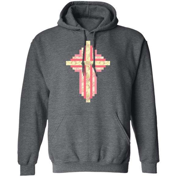Patchwork Cross Pullover Hoodie