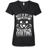 Most of My Life (Quilting) Ladies V-Neck Tee - Crafter4Life - 3