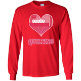 Heart Quilting Long Sleeve Ultra Cotton T-Shirt - Crafter4Life - 10