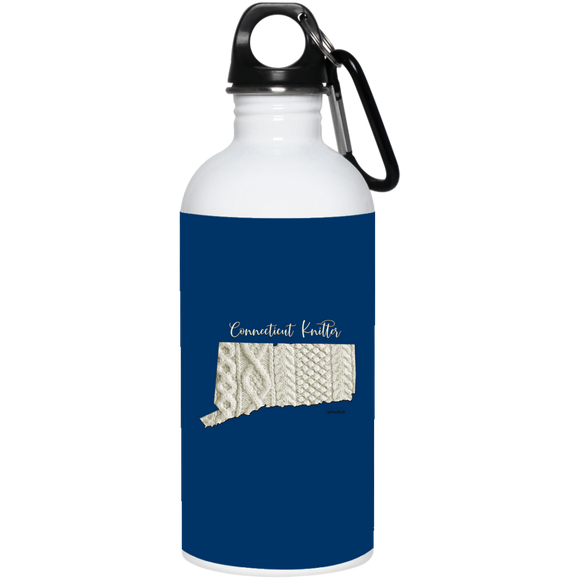 Connecticut Knitter Stainless Steel Water Bottle