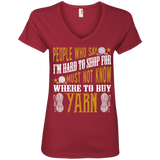 Where to Buy Yarn Ladies V-Neck T-Shirt