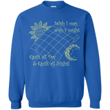 Wish I May Quilt Crewneck Sweatshirts - Crafter4Life - 6