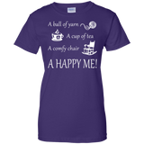A Happy Me Ladies Custom 100% Cotton T-Shirt - Crafter4Life - 12