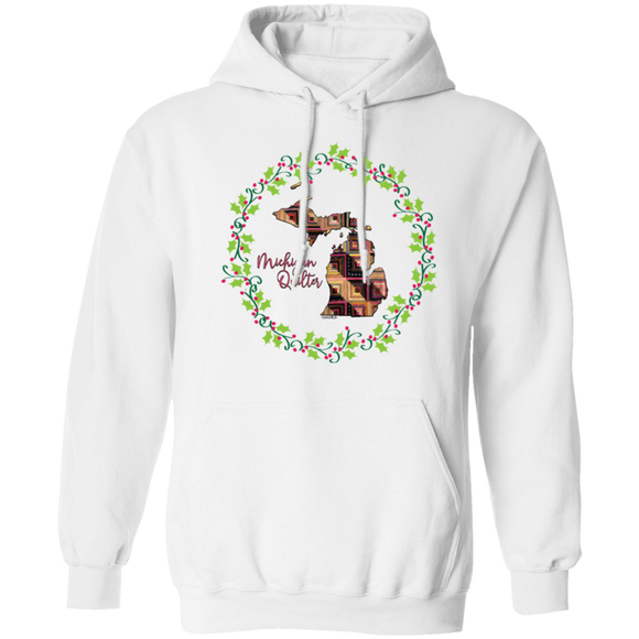 Michigan Quilter Christmas Pullover Hoodie