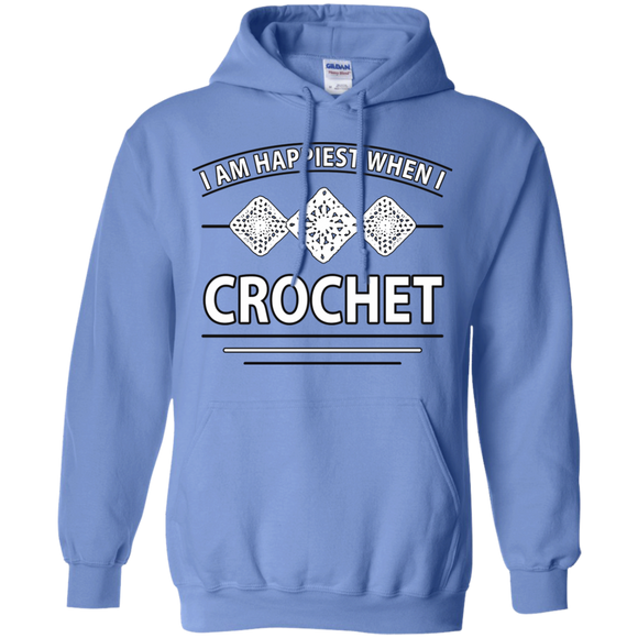 I Am Happiest When I Crochet Pullover Hoodies - Crafter4Life - 1