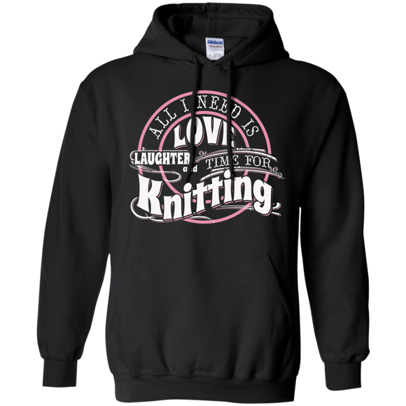 Time for Knitting Pullover Hoodie