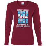 Winter Forecast Quilting Flurries Ladies Long Sleeve Shirts