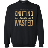 Time Spent Knitting Crewneck Sweatshirt - Crafter4Life - 2