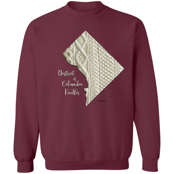 District of Columbia Knitter Crewneck Pullover Sweatshirt