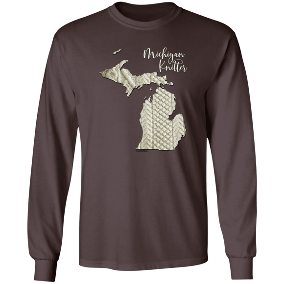 Michigan Knitter LS Ultra Cotton T-Shirt